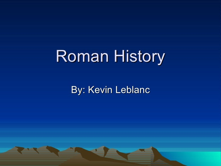 Roman history final