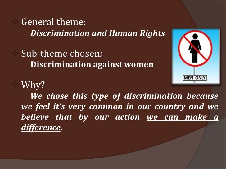 discrimination against females in sport Search the equality now site pass the international violence against women act (i-vawa) ending sex discrimination in the law.