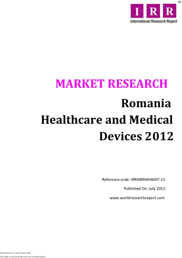 Romania healthcare and medical devices 2012
