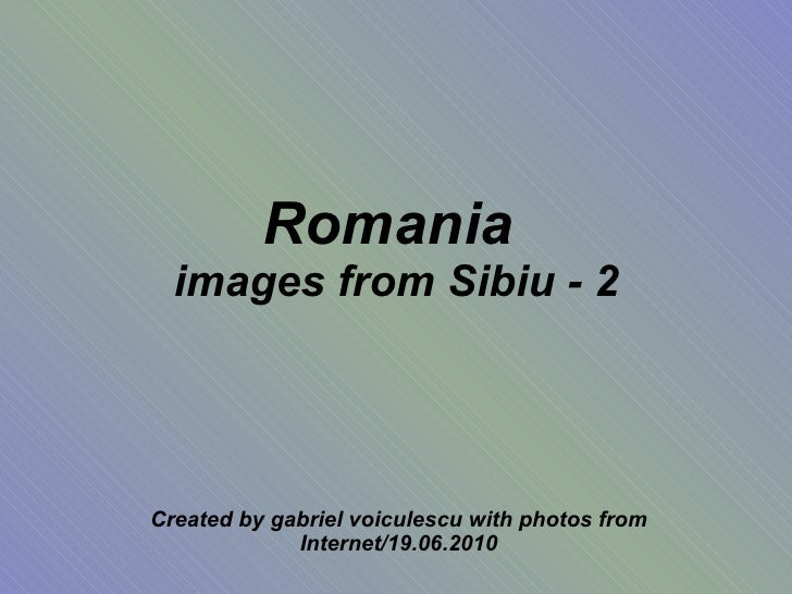 Romania images from sibiu 2