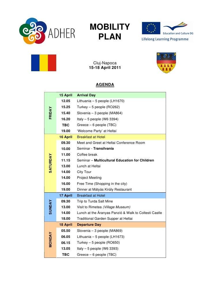 Romania mobility plan
