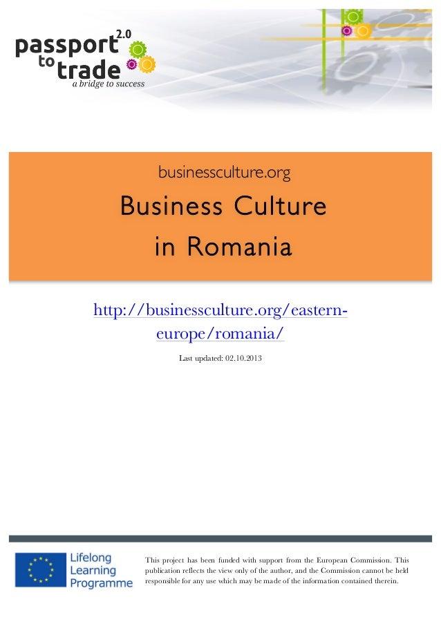 |  1        businessculture.org  Business Culture in Romania     http://businessculture.org/e...