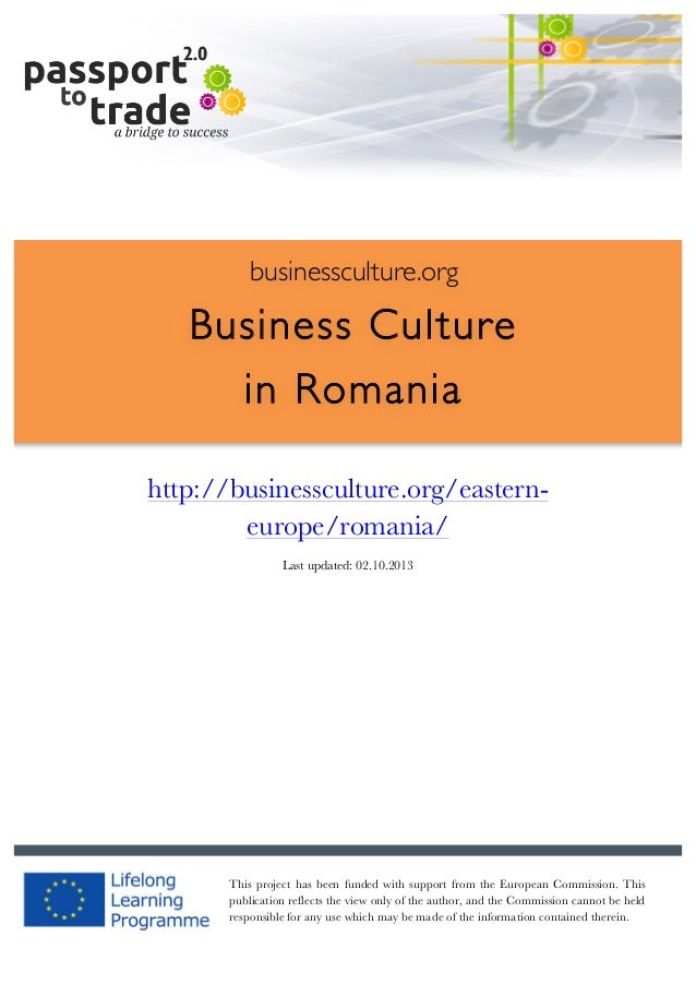 Romanian business culture guide - Learn about Romania