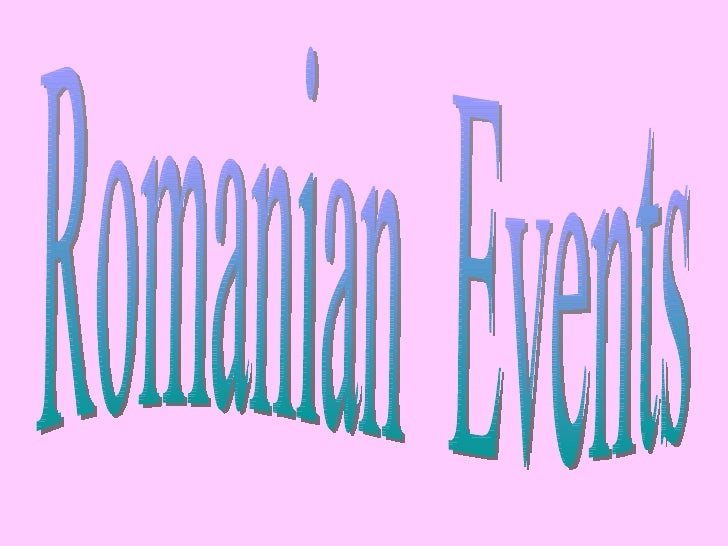 Romanian  Events