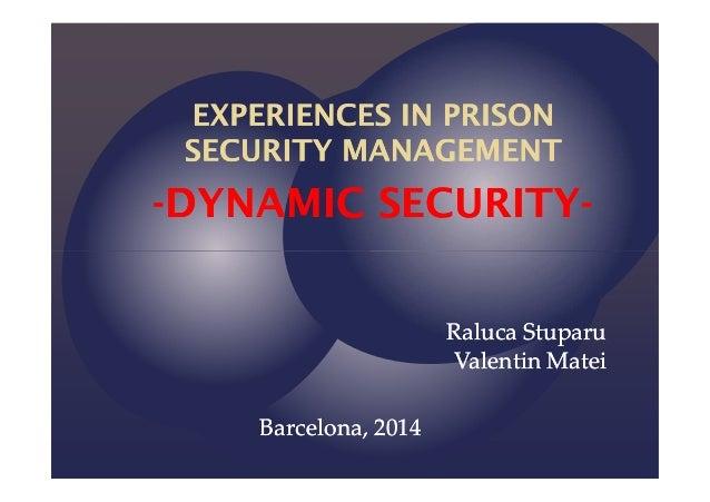 --DYNAMIC SECURITYDYNAMIC SECURITY-- Raluca StuparuRaluca Stuparu Valentin MateiValentin Matei Barcelona, 2014Barcelona, 2...