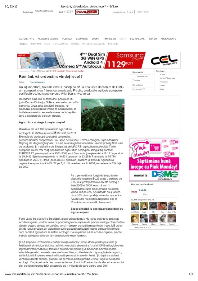 10/22/12                                                         Români, vă ordonăm: vindeţi eco!? > EVZ.ro               ...