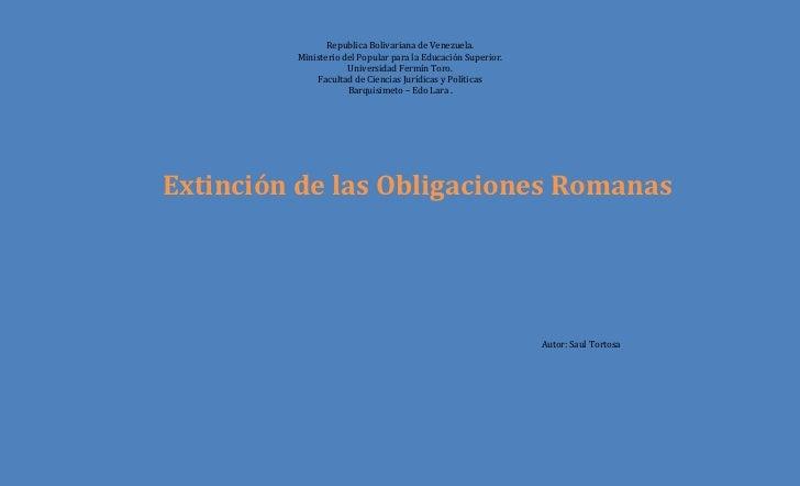 Romano extinción de las obligaciones .docx