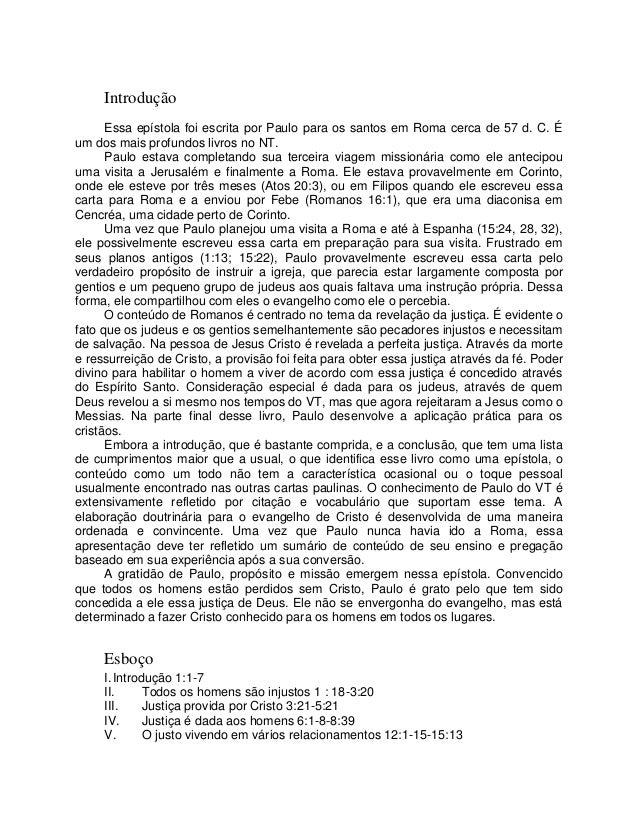 Romanos Bíblia amplificada em português