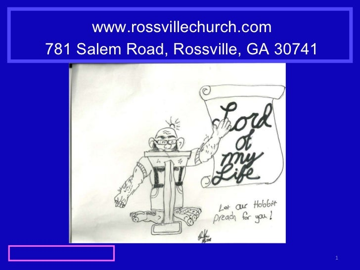 www.rossvillechurch.com 781 Salem Road, Rossville, GA 30741