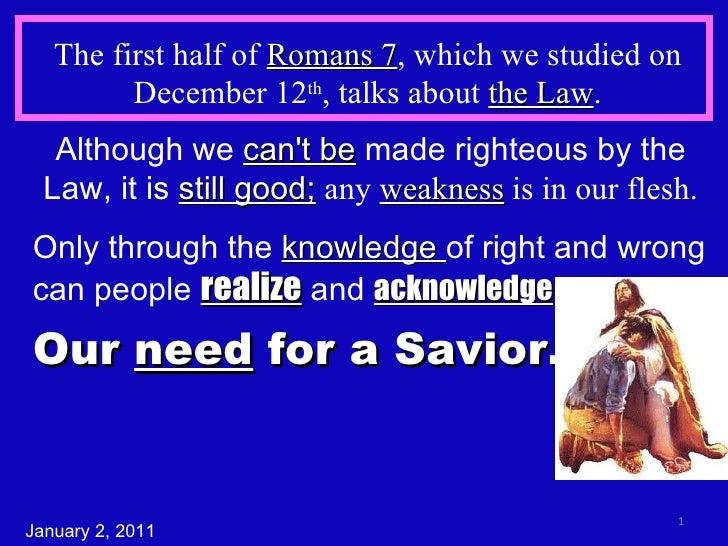 Romans 7b The Struggle Within