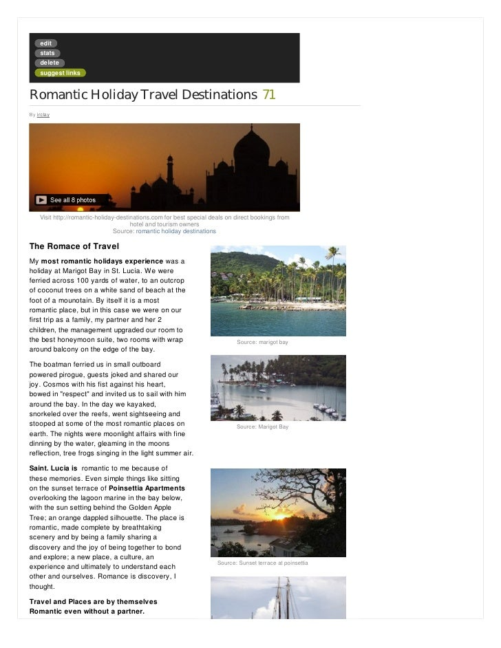 Romantic Holiday Destinations | Travel 2 Exotic Places