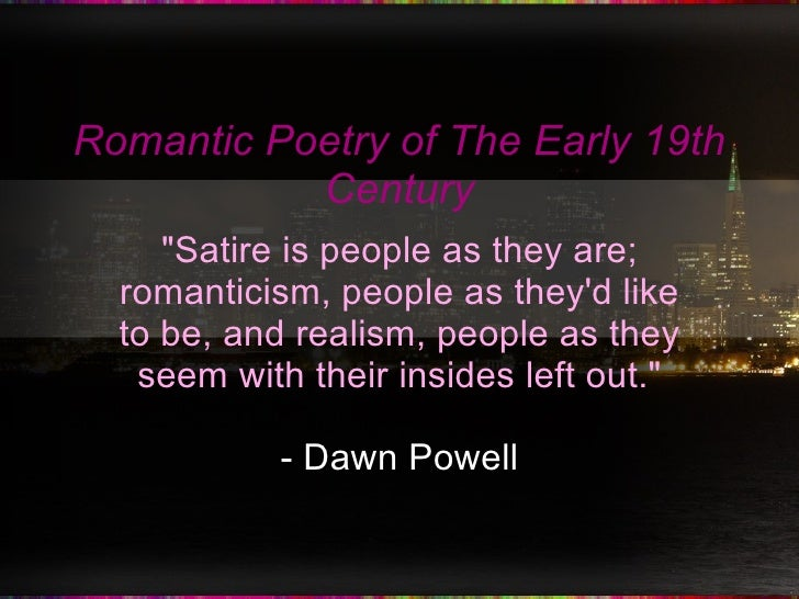 A Brief Guide to Romanticism