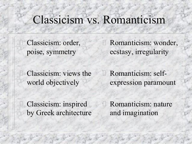 enlightenment and romanticism • rousseau is sometimes identified as a precursor or an inspiration to romantic thinkers and artists • texts usually define romanticism as a reaction to the enlightenment or classicism no.