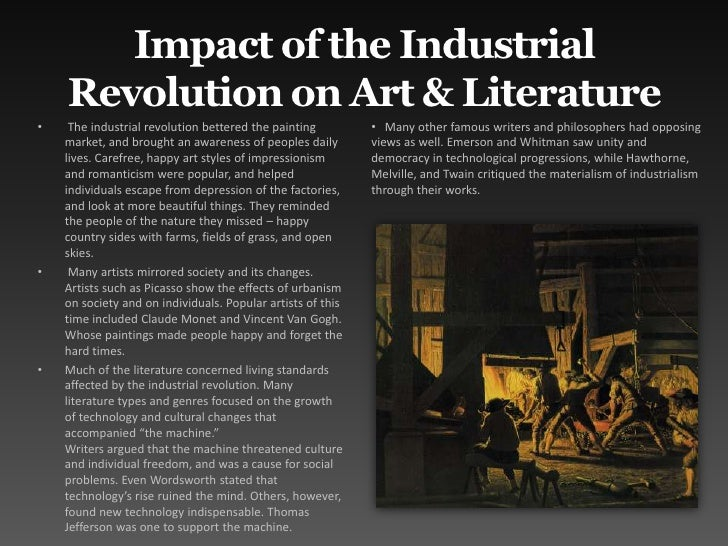 industrial revolution leading to the romantic History of europe - revolution and the growth of industrial society, 1789–1914: developments in 19th-century europe are bounded by two great events the french revolution broke out in 1789, and its effects reverberated throughout much of europe for many decades world war i began in 1914 its inception resulted from many trends in.
