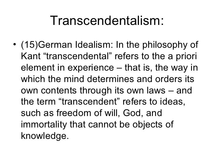 an introduction to emersons philosophy of romantic idealism Idealism - (philosophy) the philosophical theory that ideas are the only reality philosophy - the rational investigation of questions about existence and knowledge and ethics philosophical doctrine , philosophical theory - a doctrine accepted by adherents to a philosophy.