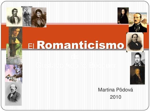 Martina Pôdová 2010 El Romanticismo de Gustavo Adolfo Bécquer