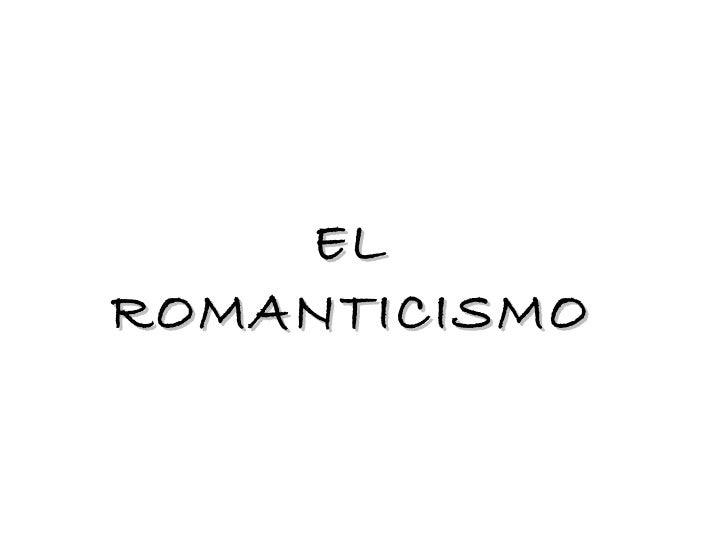Romanticismo caracteristicas