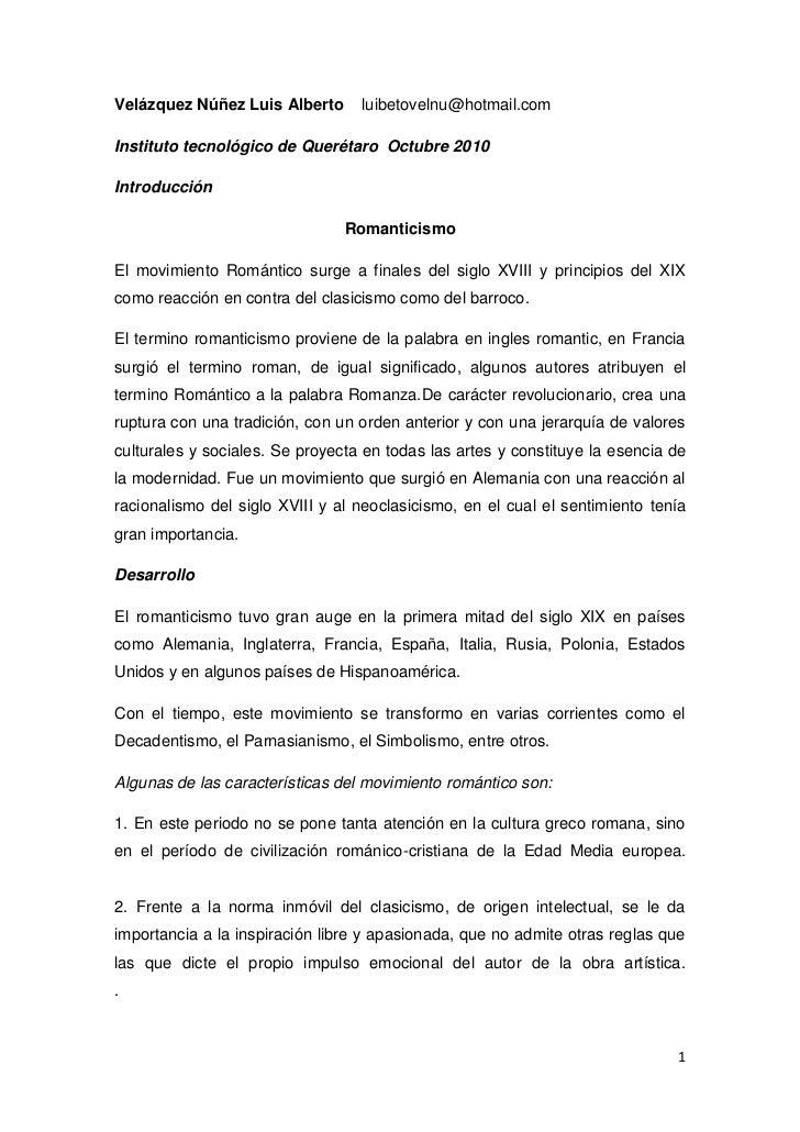 Velázquez Núñez Luis Alberto    luibetovelnu@hotmail.com<br />Instituto tecnológico de Querétaro  Octubre 2010 <br />Intro...