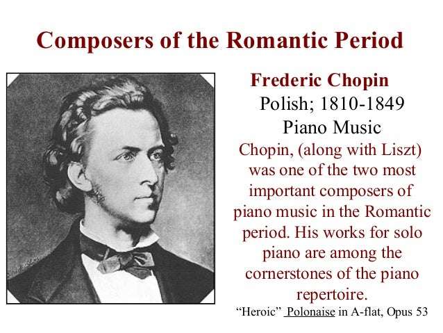 the life and music of frederic chopin a composer Written when he was only seventeen years old, frédéric chopin's variations on   within two months, chopin was feeling quite at home in paris's vibrant cultural  life  as a composer his fame was also increasing, and, by 1833, his music was .