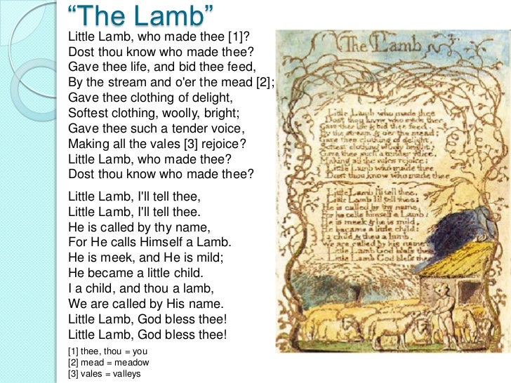 a comparative analysis between two poems by william blake the lamb and the tyger