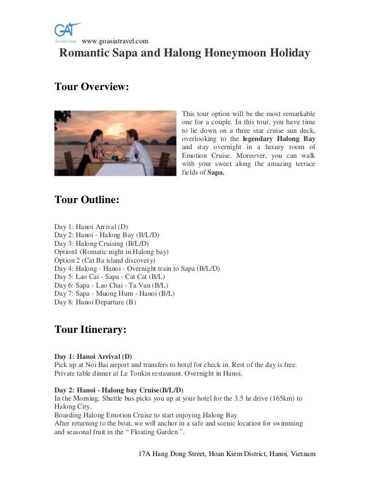 www.goasiatravel.com Romantic Sapa and Halong Honeymoon HolidayTour Overview:                                             ...