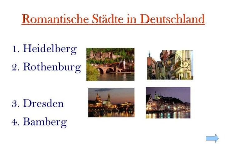 Romantische Städte in Deutschland<br />