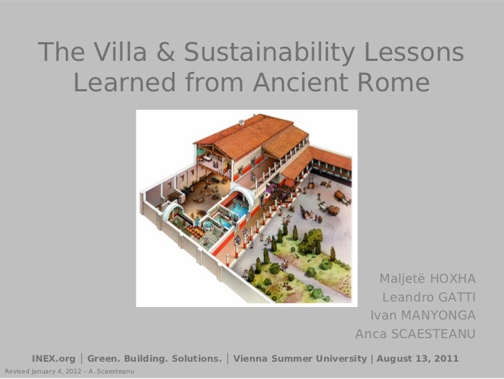 Green Building in Ancient Rome