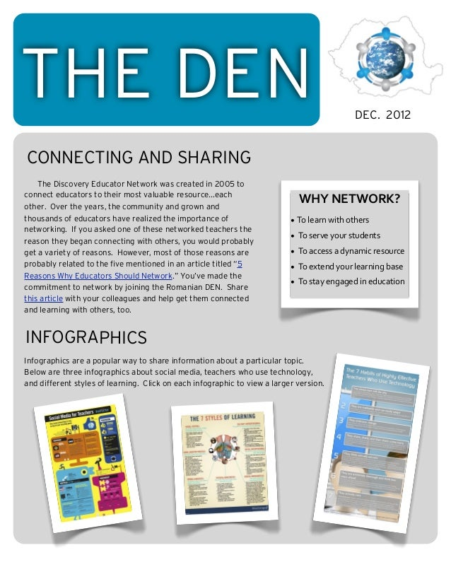 THE DEN                                                                                              DEC. 2012CONNECTING A...