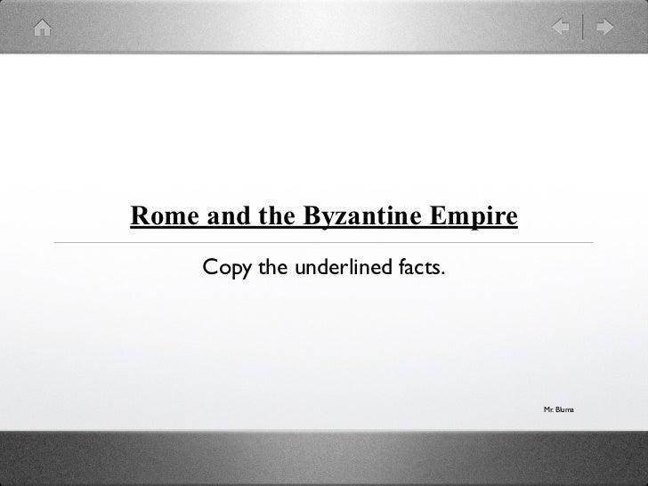Rome and Byzantine Empire