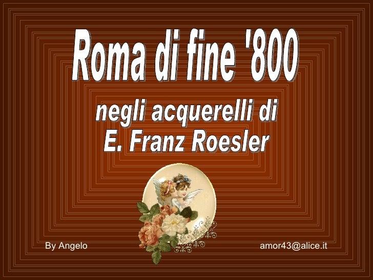 Rome En Peinture   Franz Roesler    31 08 2009