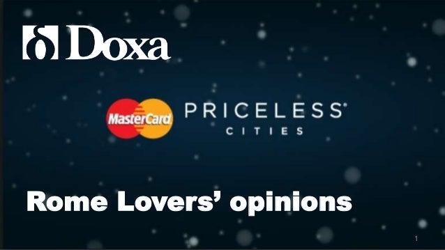 Mastercard Priceless Rome