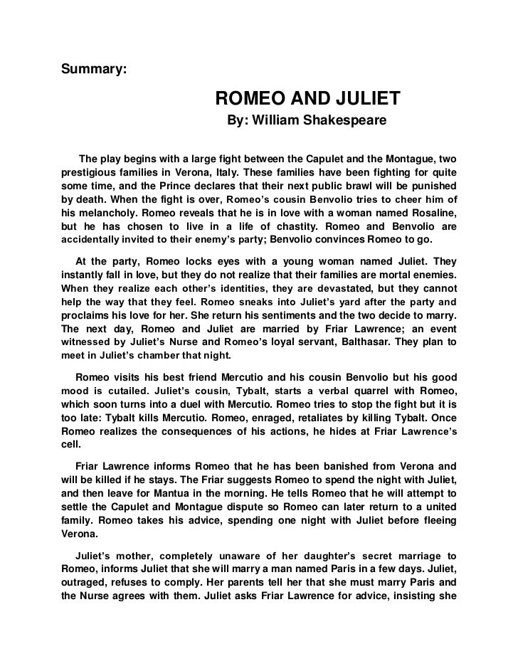Shakespeares play Romeo and Juliet - Sample Essay