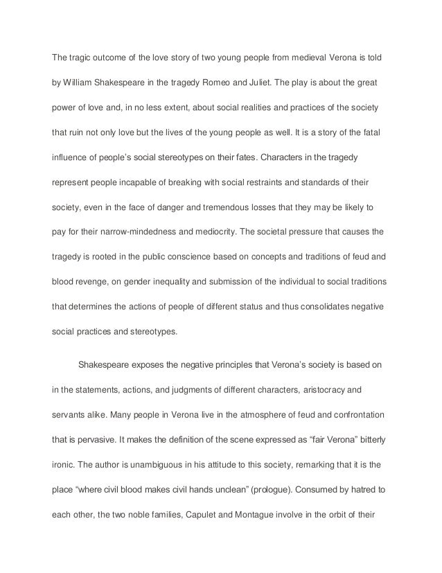 Themes In Romeo And Juliet Essay Conclusion - Essay for you
