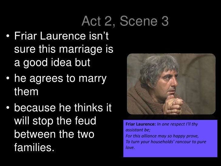 Help with friar Lawrence speech from romeo and juliet?