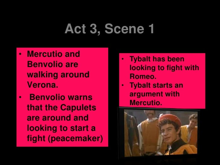 What do we learn about Mercutio in act 3 scene 1?