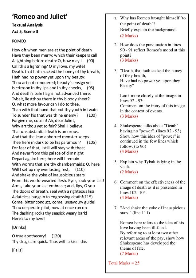 character analysis romeo and juliet essay