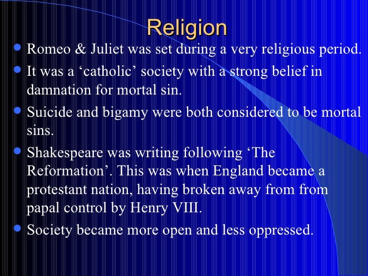 romeo and juliet religion essay