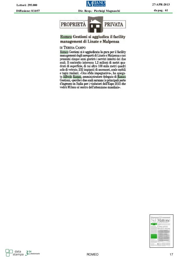 Romeo Gestioni - facility management