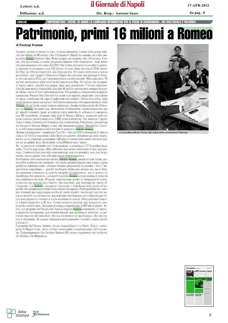 Lettori: n.d.                                  17-APR-2012Diffusione: n.d.   Dir. Resp.: Antonio Sasso   da pag. 6        ...