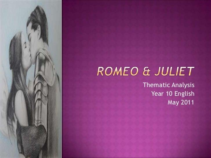 Romeo & juliet themes lesson