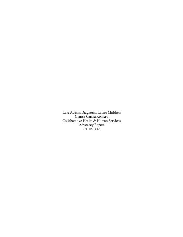 Late Autism Diagnosis: Latino Children