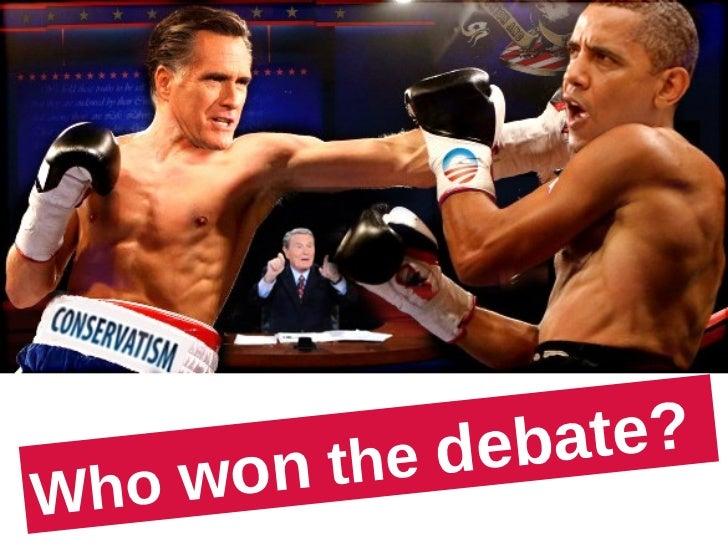 Romney Obama Debate Winner: Who Won the 2012 Presidential Debate