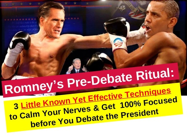 Romney's ritual before public speaking or debating
