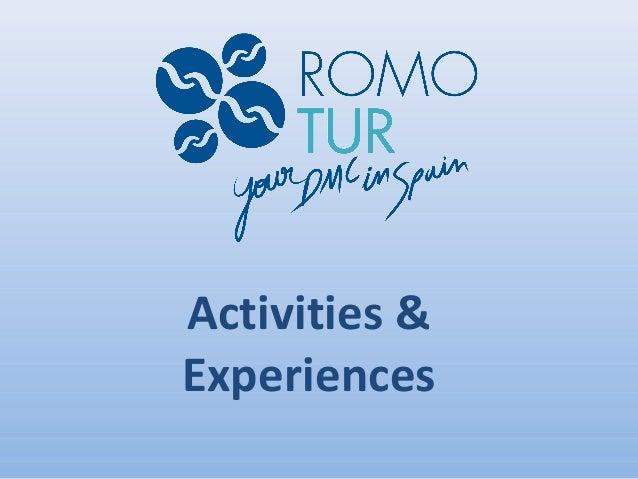 Activities &Experiences