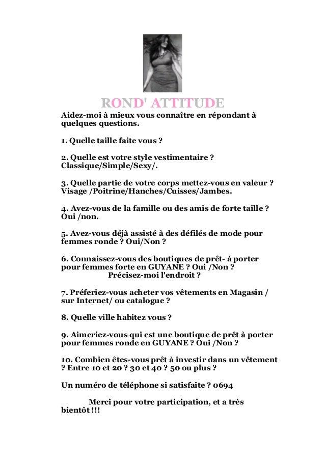 Exemple questionnaire client - Rond'attitude