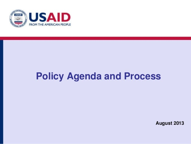 Introduction- Policy Agenda and Process: Ron Greenberg