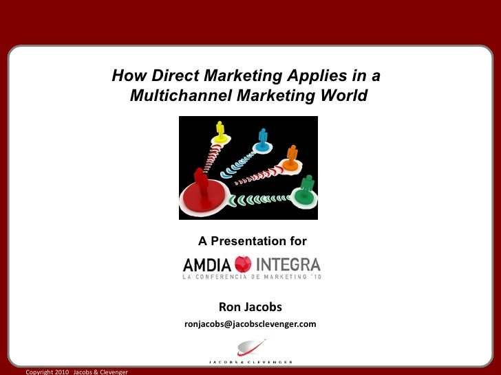 Ron Jacobs [email_address] How Direct Marketing Applies in a  Multichannel Marketing World A Presentation for
