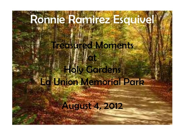 Ronnie R. Esquivel Treasured Moments
