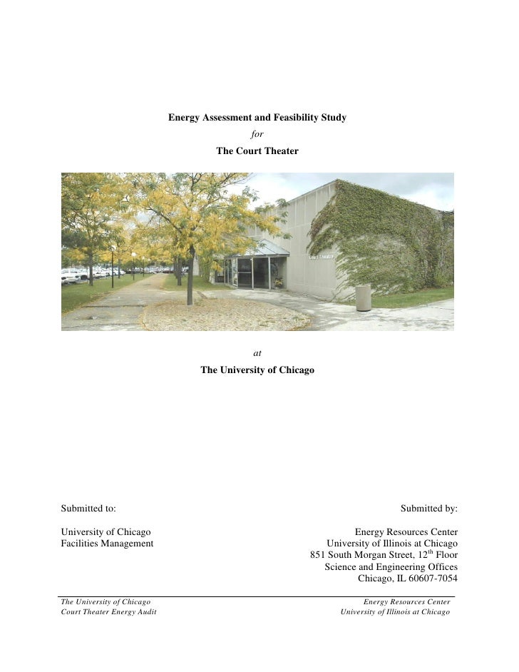 Energy Assessment and Feasibility Study                                                for                                ...