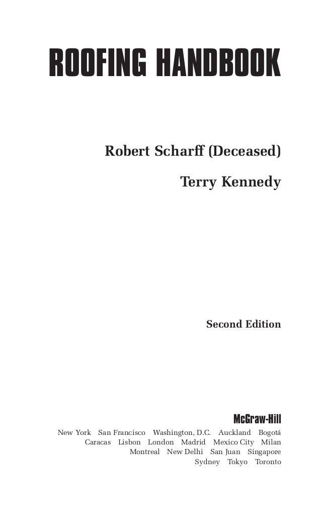 Roofing handbook 2ed 2000   scharff & kennedy